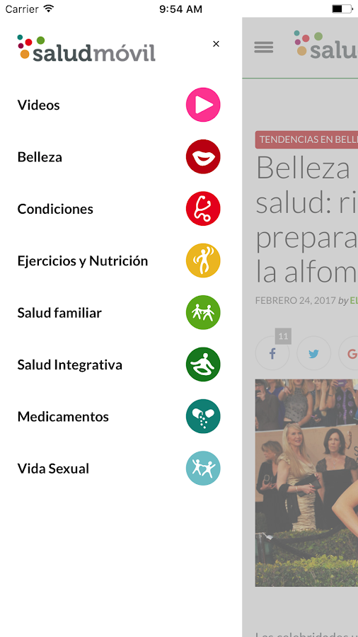saludmóvil for Android- screenshot