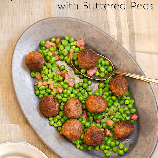 Spiced Lamb Meatballs with Hot Buttered Peas.