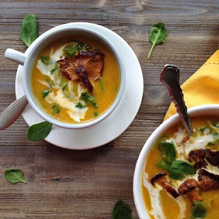 Chanterelle Soup Recipe with Butternut Squash
