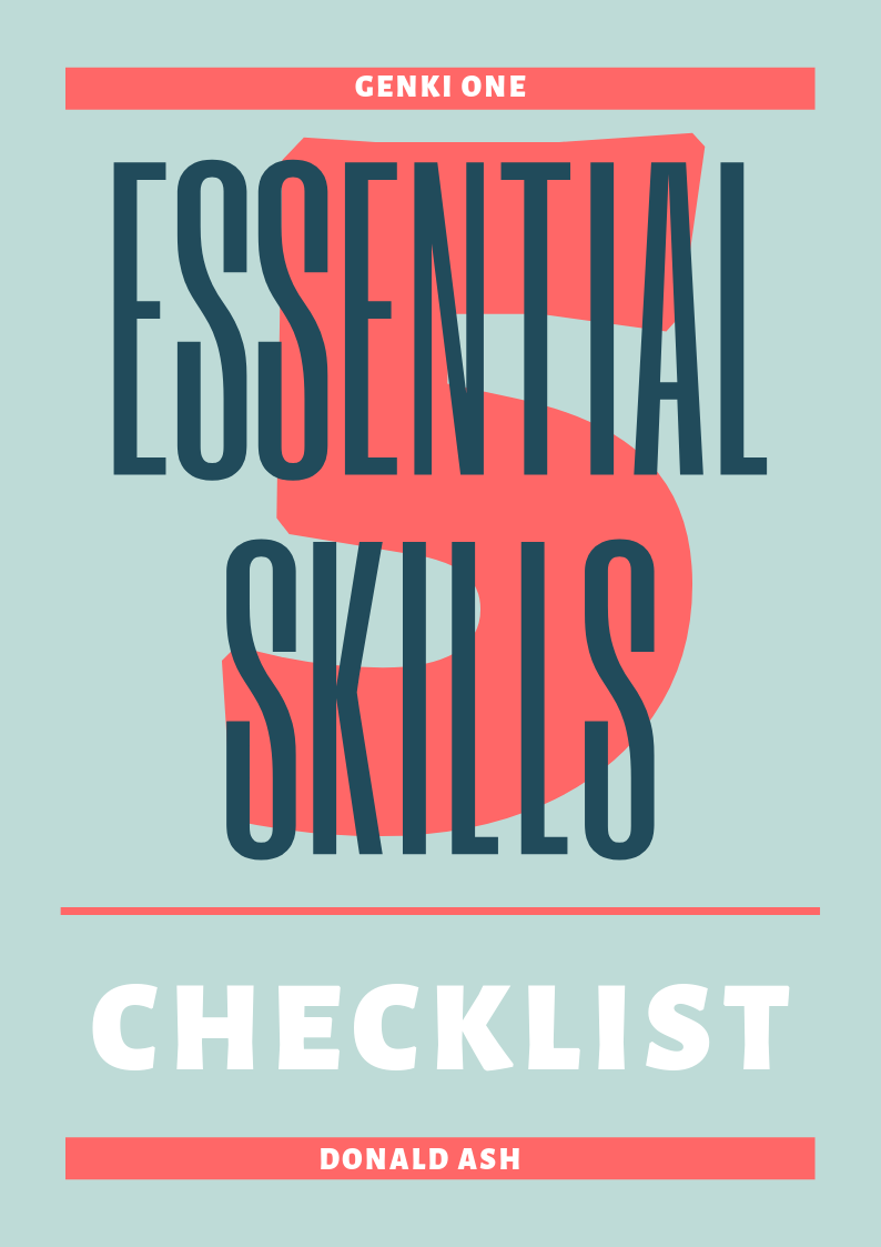 Click here to get your Skills Checklist!