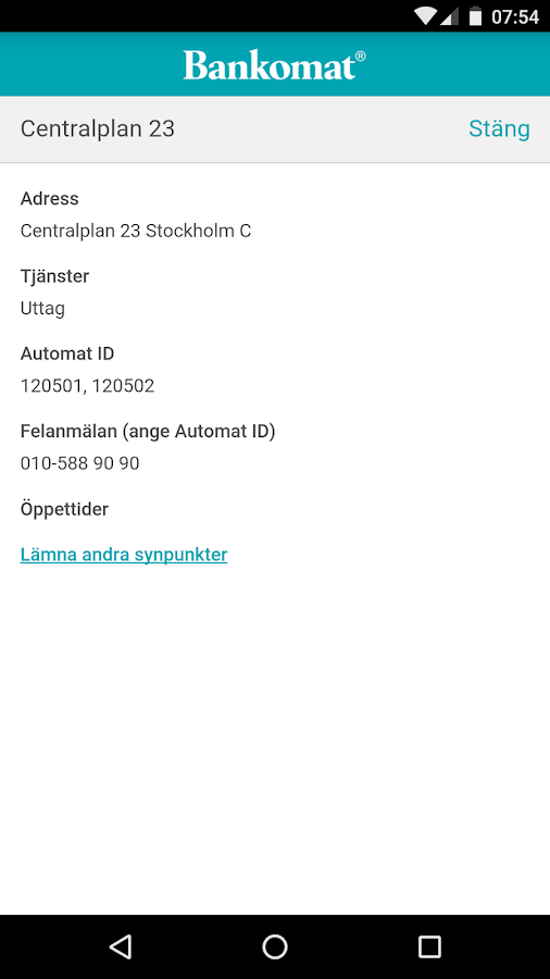 Find Bankomat- screenshot