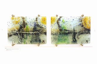 Photo: 'Finlandia' - fused glass stained with metals, 2 x 24cm x 33cm, 2005, ?SALE PRICE? £180