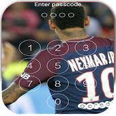 Keypad Lock Screen for Neymar Jr 10 New PSG