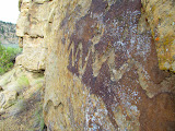 Photo: Weathered snake petroglyph