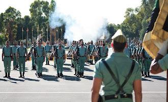 Actos de Santa Bárbara en la base de la Legión