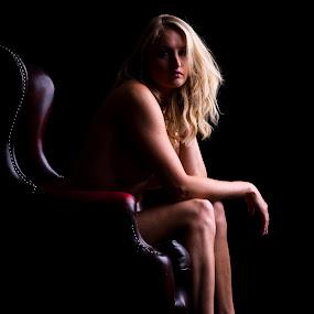 seated beauty by Paul Phull - People Portraits of Women ( portait, low key, model., laura, women )