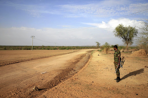 An Ethiopian officer stands guard on the outskirts of Badme. Picture: REUTERS