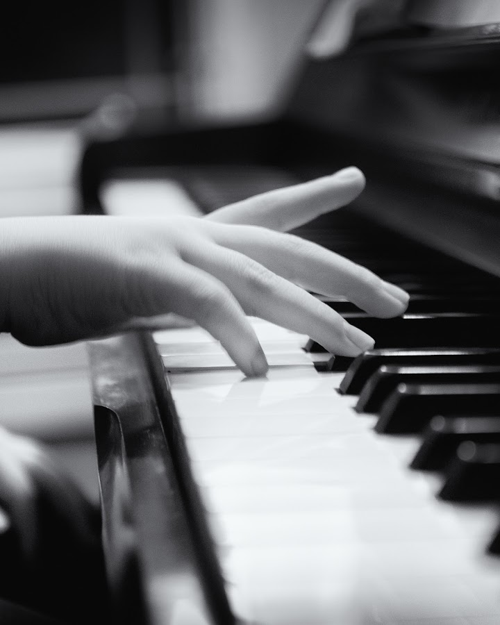 by Lisa Mirante - People Body Parts ( hand, piano, b&w, black and white, bw )