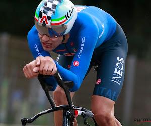 Filippo Ganna nieuwe wereldkampioen tijdrijden, Van Aert moet tevreden zijn met zilver