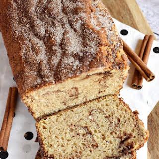 Cinnamon Bread {No-Yeast Quick Bread}.