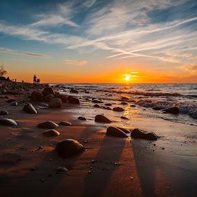 Rozewie, Poland by Paweł Mielko - Landscapes Beaches ( sealandscape, sunrises, scape, polska, seascapes, sea, seascape, beach, sun, baltic, poland, jastrzębia góra, beaches, baltic sea, sunset, sunsets, rozewie, sunrise,  )
