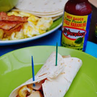 Spicy Breakfast Burrito.