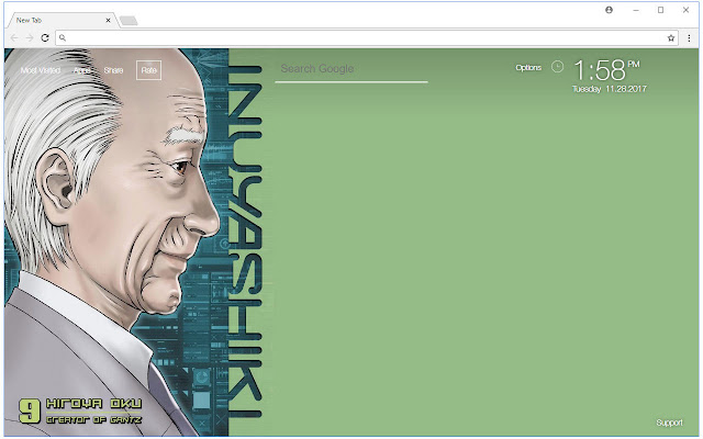 Inuyashiki HD Wallpaper Anime New Tab Themes
