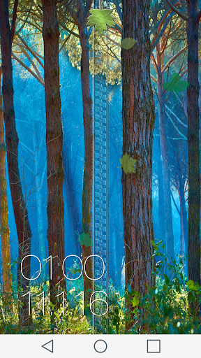 Forest Zipper Lock Screen