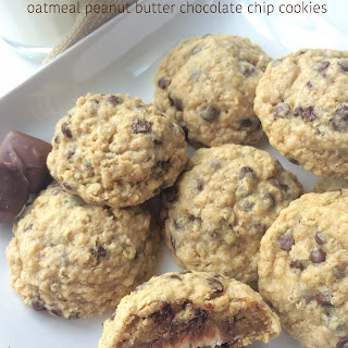 Caramel Apple Milky Way Oatmeal Peanut Butter Chocolate Chip Cookies