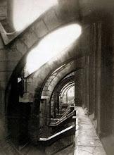 Photo: Vista desde el techo de Eglise Saint- Séverin ( 5 arr), 1903 .- EUGÈNE ATGET