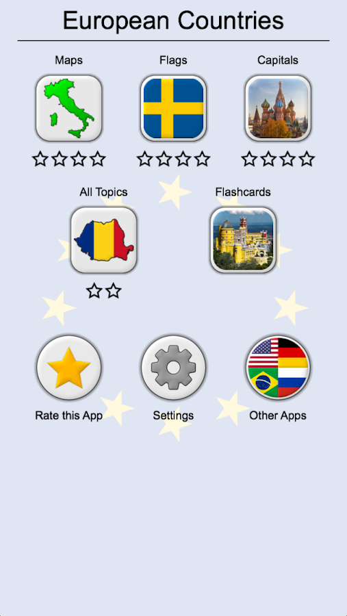 European Countries Maps Flags and Capitals Quiz Android Apps