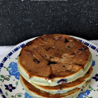 Blueberry White Chocolate Pancakes