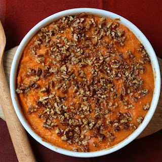 The Ultimate Bourbon-Maple Sweet Potato Casserole with Pecans
