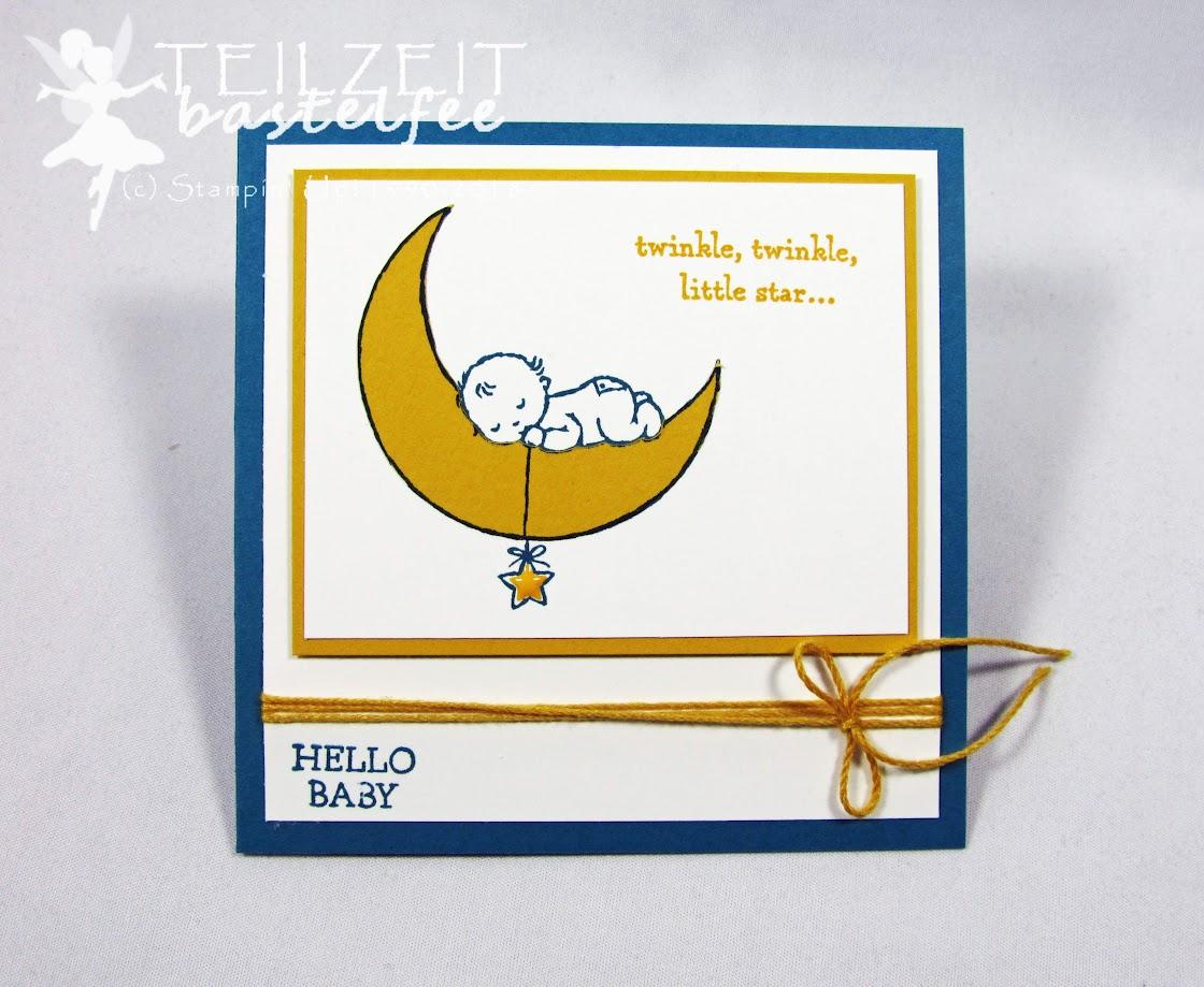 Stampin' Up! - Inkspire_me #353, Sketch Challenge, Baby Boy, Geburt Junge, Moon Baby