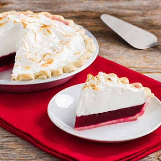 Sky High Cranberry Meringue Pie