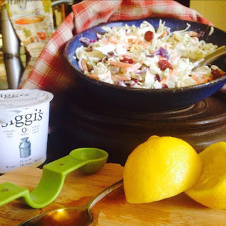 Sweet & Tangy Coleslaw {Made with Greek Yogurt}.