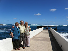 Photo: Sherna, Sam and Penny on the peir at the Hilton Hotel in Peurto Rico