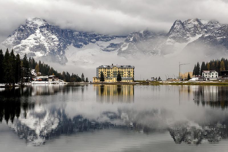 Prima neve sul lago di alagnol