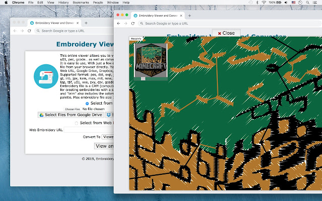 Embroidery Viewer and Converter