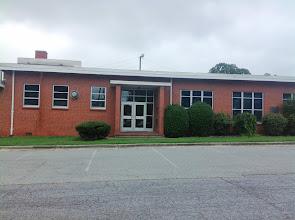 Photo: Sedgefield Elementary School - door to the cafeteria