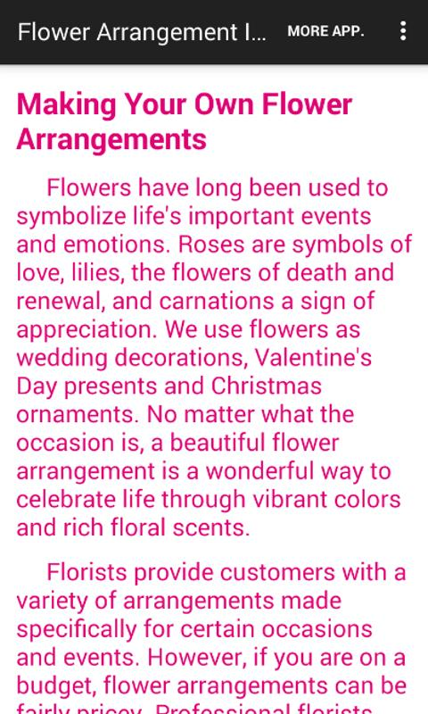 Flower Arrangement Ideas- screenshot
