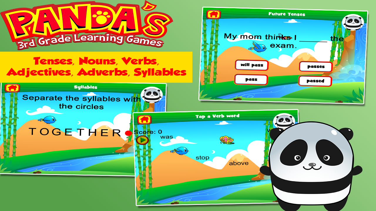Panda Third Grade Games- screenshot
