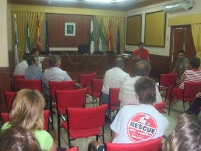 Photo: Pedro, Damian, Martín y Marcos fueron los encargados de explicar los asuntos.