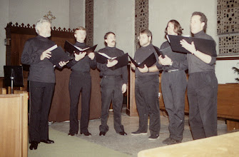 Photo: April 1991: J. Kite-Powell, Chris Liljestrand, Allen Scott, Ken Lambert, Oren Weightsel, Steve Rickards