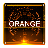 Orange technology theme