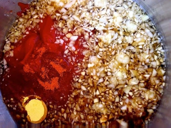 In a 3 qt. non-reactive saucepan, combine ketchup, vinegar, water, brown sugar, mustard, pepper,...