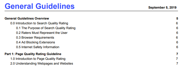 google search rater guidelines