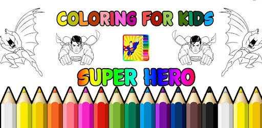 Super Hero Kids Coloring Pages Indir Pc Windows Android Purple