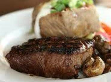 Strip Steaks With Sirloin Mushrooms Recipe