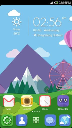 Colorful Icon-Launcher Theme