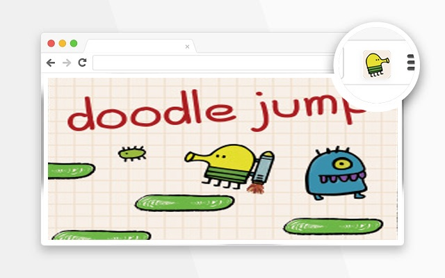Doodle Jump game in popup browser