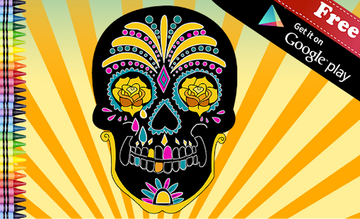 Adult Coloring Sugar Skull screenshot