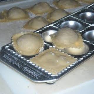 Mushroom Stuffed Ravioli.