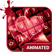 Love Flames Animated Keyboard
