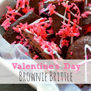 Valentine's Day Brownie Brittle
