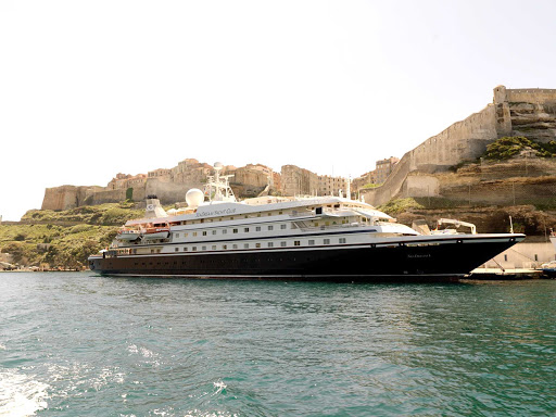 Vist Bonifacio, Corsica, Galaxidi, Greece, and other smaller ports of call on a SeaDream cruise.