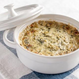 Make-Ahead Spinach Artichoke Dip.
