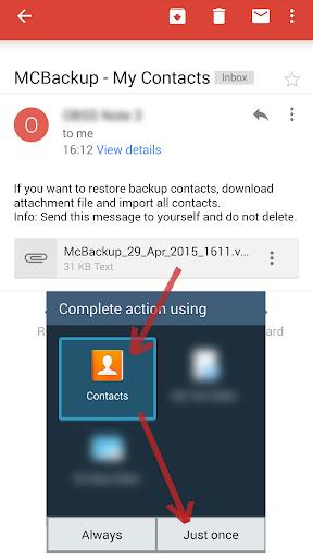 Mcbackup My Contacts Backup Applications Sur Google Play