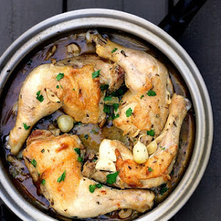 Coq au Vin Rosé, based on Barbara Lynch's Braised Chicken with Rosemary and Garlic {recipe}