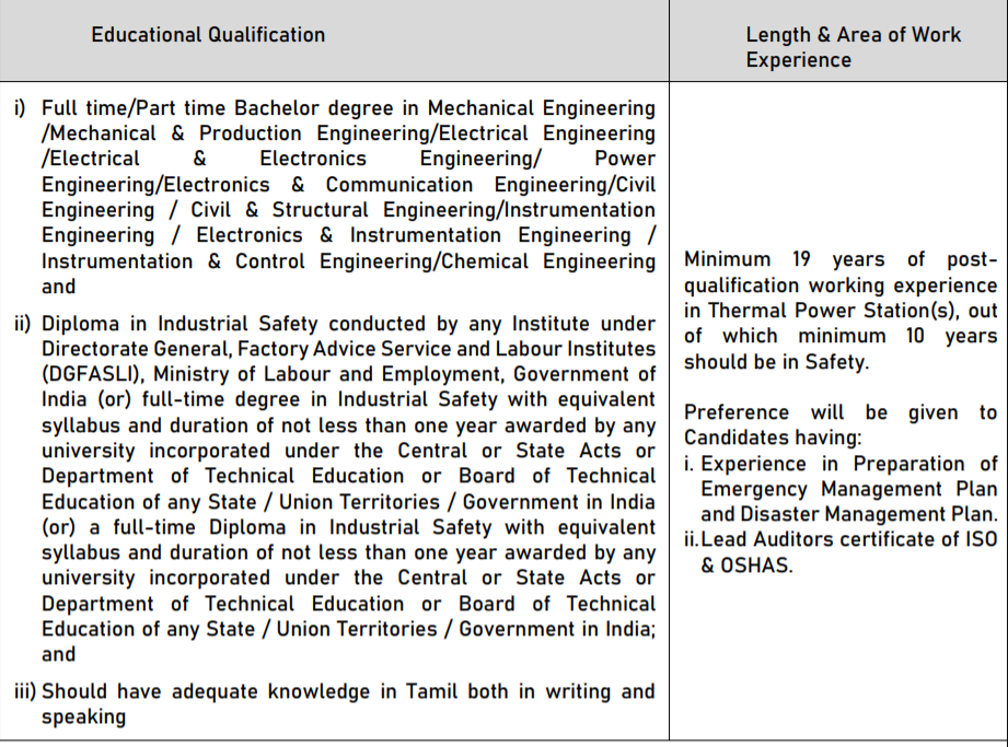 NLC Recruitment 2021 - Apply for Safety Officer Job 2